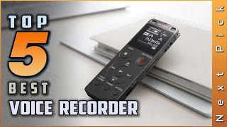 Top 5 Best Voice Recorders Review in 2021