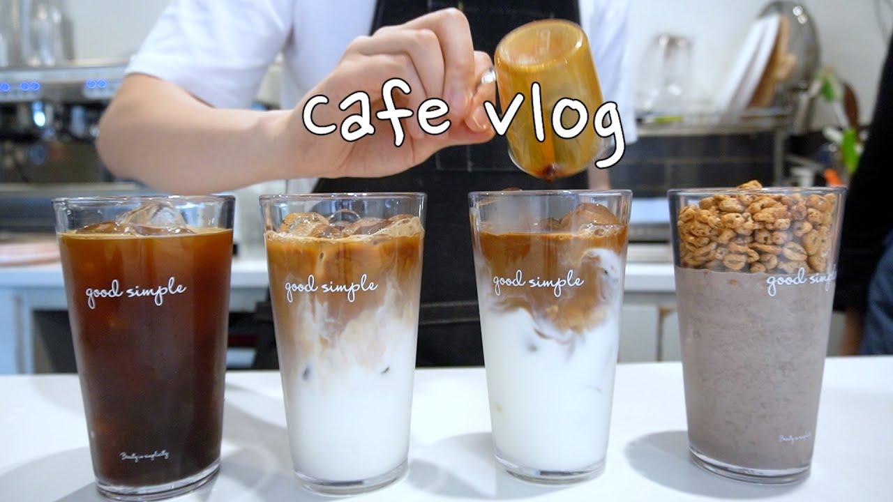 Cafe vlog   ☔비오는 날 택배 50개 보내기🎁, 오랜만에 전하는 카페 일상, 외국에서 날아온 편지📬