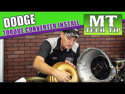 Dodge Torque Converter Install