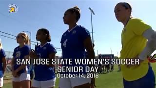 SJSU W SOCCER Senior Day (10/14/18)
