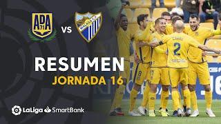 Resumen de AD Alcorcón vs Málaga CF (1-0)