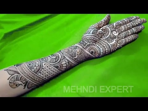 Traditional Bridal cool henna or Mehndi design for hand ★ Step by Step tutorial