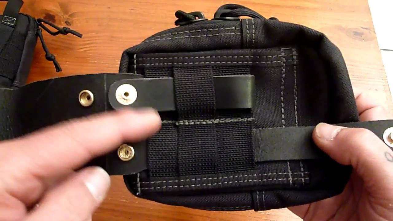 50% off amazing selection genuine shoes Passant ceinture cuir pour pochettes avec passants Molle
