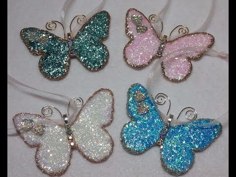DIY~Gorgeous Vintage Butterfly Christmas Ornaments! So Easy!