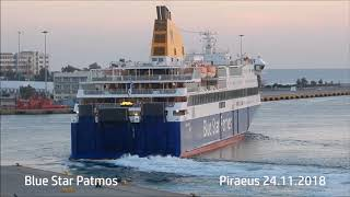 BLUE STAR PATMOS evening departure from Piraeus