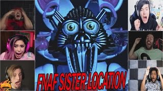 Gamers Reactions to Funtime Foxy (Jumpscare) | Five Nights at Freddy's: Sister Location