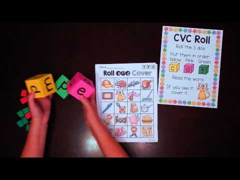CVC Words Roll Literacy Center