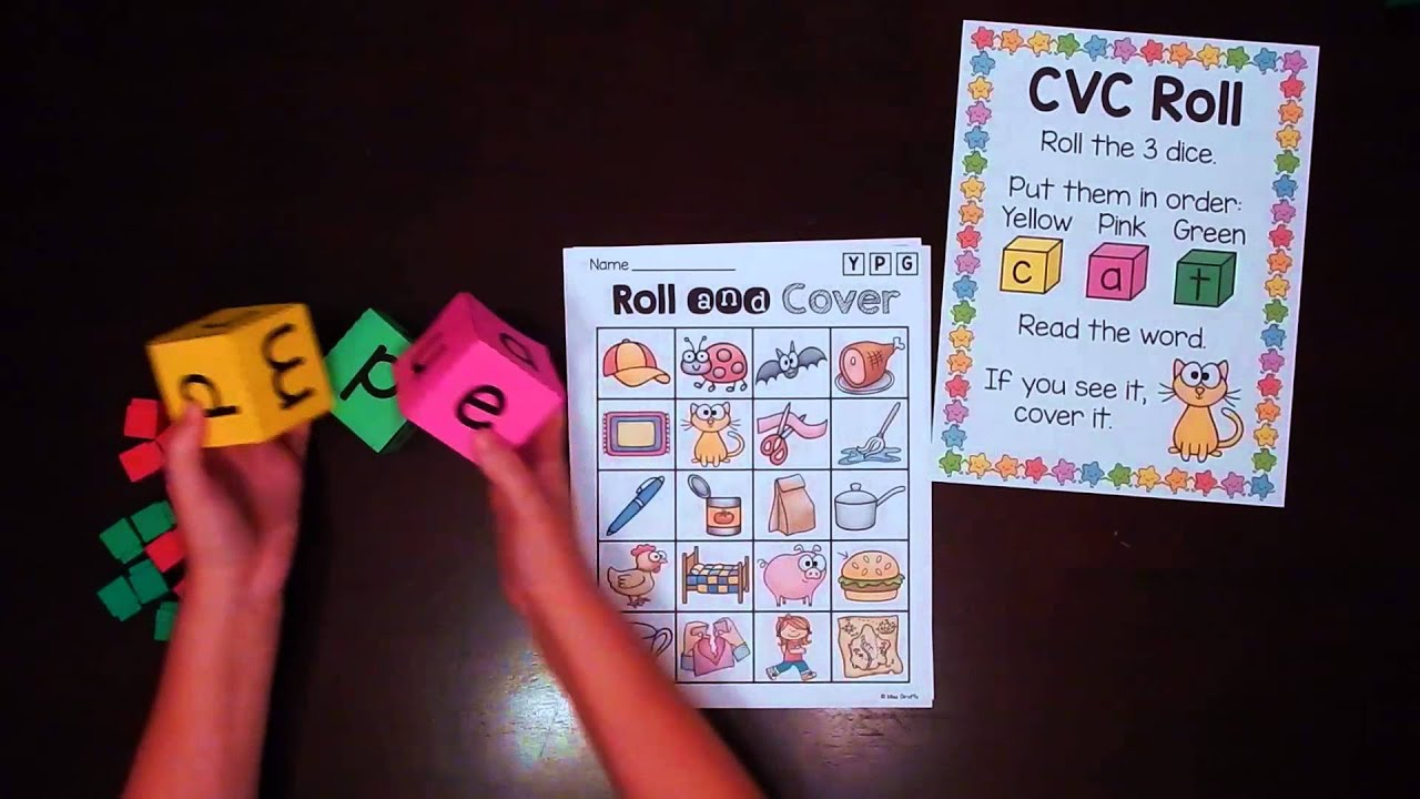 CVC Words Game – How to Play this Fun Word Rolling Literacy Center Activity