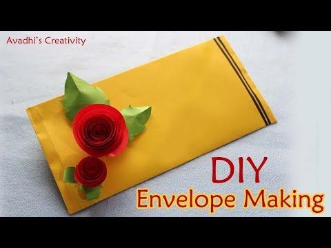 DIY - Easy origami envelope making - Super Easy Origami Envelope - paper Envelope making at home