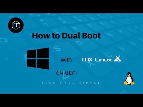 How To Dual Boot  MX Linux And Windows 10 On UEFI (full Install And Removal)