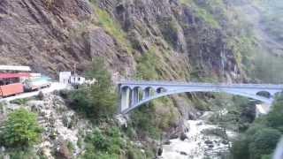 Zhangmu Border between China & Nepal