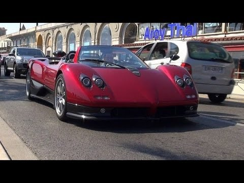 One Hour of Carspotting in Nice (Pagani Zonda S, SL Black Series, and much more)