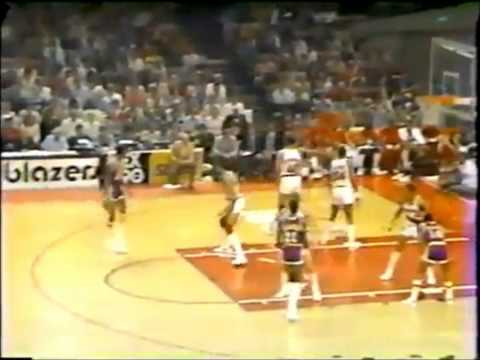 1983 Playoffs LA Lakers@Portland Game 3 HIGHLIGHTS