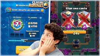 ¡¡ JUEGO SIN ELEGIR CARTAS EN EL DESAFIO DE ELECCION Y DESTROZO !! - Clash Royale [WithZack]