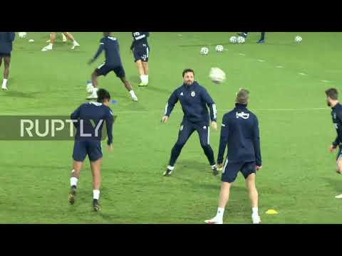 Turkey: Mesut Ozil attends his first training session with Fenerbahce