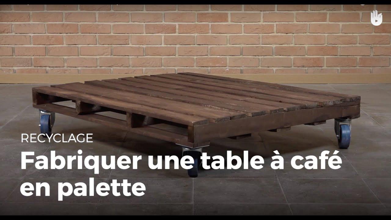 Mettre Des Roulettes Sous Une Table fabriquer une table à café en palette | recycler