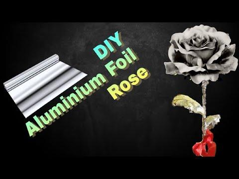 Silver Rose DIY | Aluminum Foil Artwork - Rose