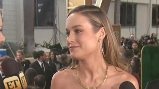 Brie Larson Reveals The Funny Golden Globe Advice Emma Stone Gave Her