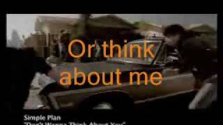 Simple Plan - Don't Wanna Think About You (lyrics & translation)