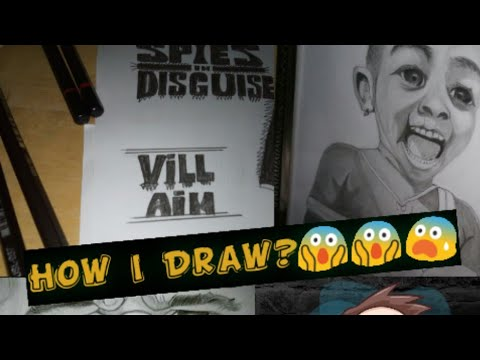 How i Draw Faces(Drawing tutorials for beginners ) #sketch paper #Graphite graded pencils # Eraser thumbnail