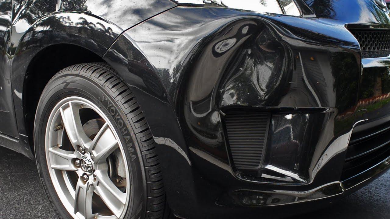 dent bumper front scion repair xd