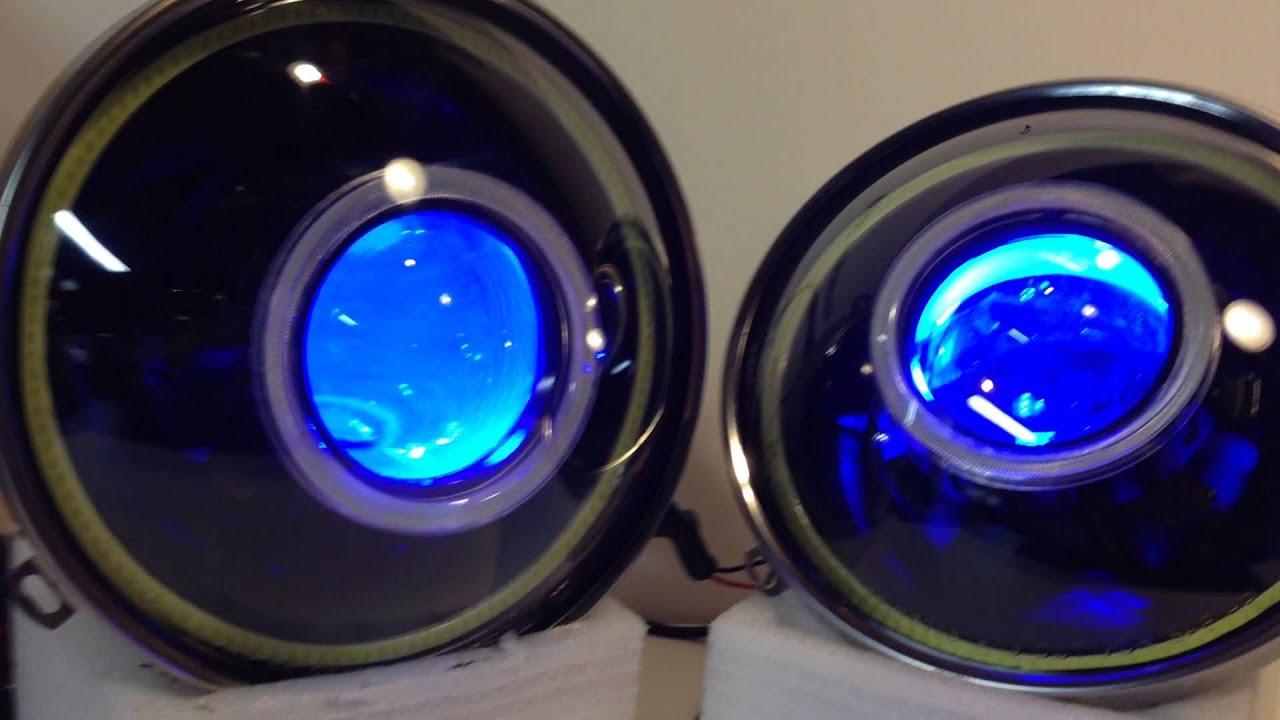 """Jeep Wrangler Jk >> www.HIDprojectors.com Bi-Xenon Projector Headlights - 7"""" Round Jeep Wrangler JK - YouTube"""