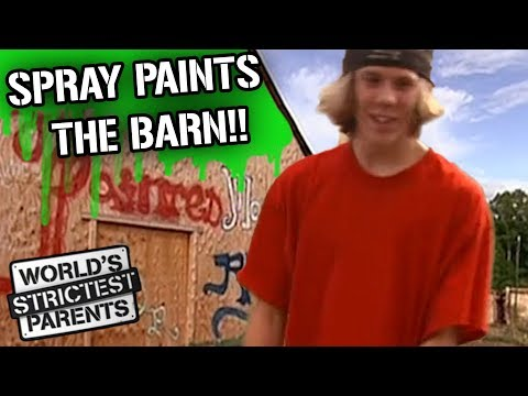 Teen Sprays Graffiti on the Barn! | World's Strictest Parents