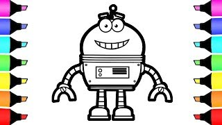 Coloring Pages Toy robot and Pokemon Colouring for children