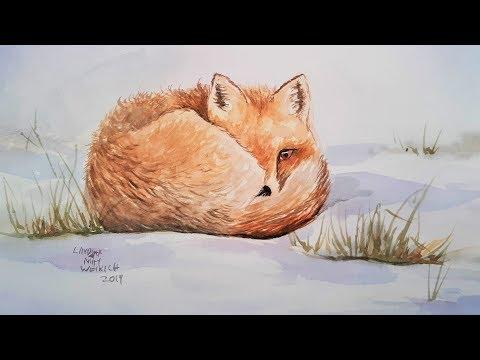 easy-fox-watercolor-tutorial-for-beginners
