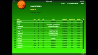 World Basketball Manager 2010 Gameplay