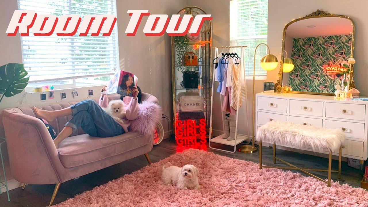 MY MAKEUP ROOM TOUR | 80s Glam Decor 🌿IAMKARENO - YouTube