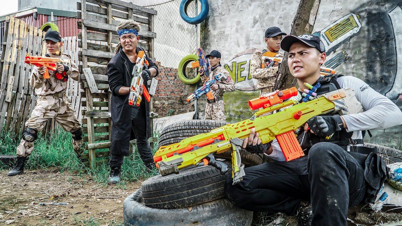 LTT Game Nerf War : Warriors SEAL X Nerf Guns Fight Criminal Group Mr Zero Crazy Rescue Squad
