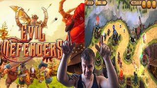 Tower Defense с красивой детальной графикой ► Evil Defenders ►Обзор,Первый взгляд,Геймплей,Gameplay