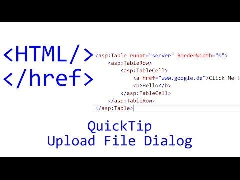 QuickTip #88 - HTML Tutorial - Upload File Dialog | JavaScript | jQuery thumbnail