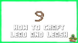 Minecraft: How To Make A Lead/Leash! Recipe Tutorial for Minecraft 1.10 & 1.9 | 2016