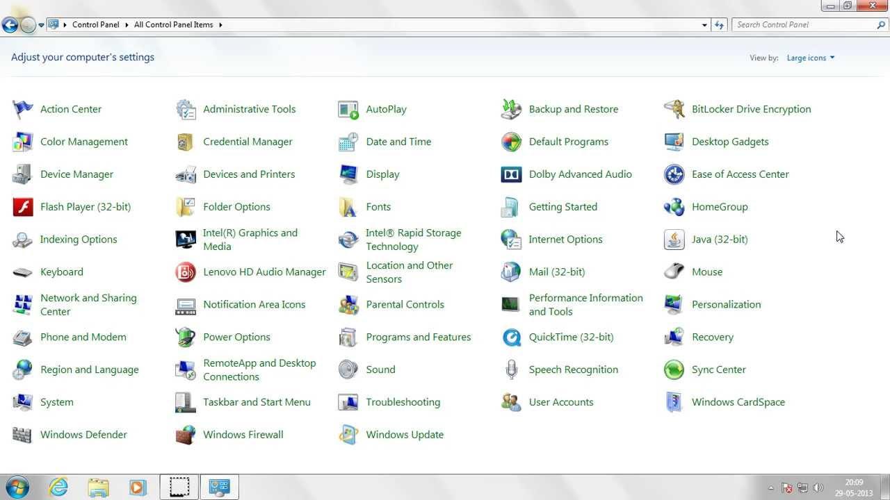 Understanding Control Panel in Windows 7