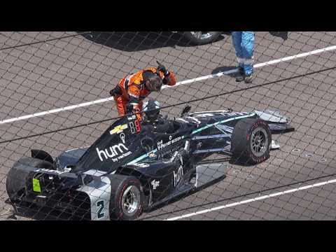 Josef Newgarden Incident at IMS - May 18, 2017