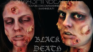 Black Death Plague SFX Halloween makeup tutorial 2015