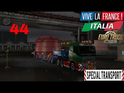 Let's Play Euro Truck Simulator 2 - Italia DLC Part 44 Special Transport Boiler Part