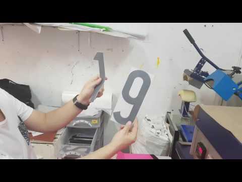 Como marcar una camiseta nombre y numero