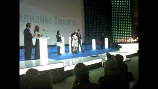 Chika Arakawa speech in Russina at VIFF with Sergei Bodorov & Guka ...