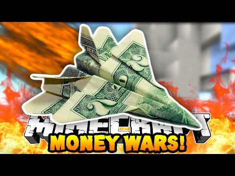 "Minecraft MONEY WARS ""GOD APPLE DEATH!"" #6 w/ Preston, PeteZahHutt & Kenny"