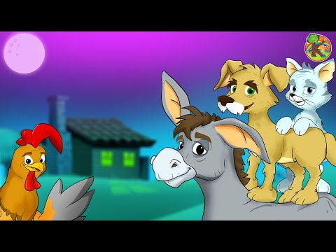 bremen-town-musicians-🐓kondosan-fairy-tales-in-english-cartoon-tv-subtitle-storytelling-listening