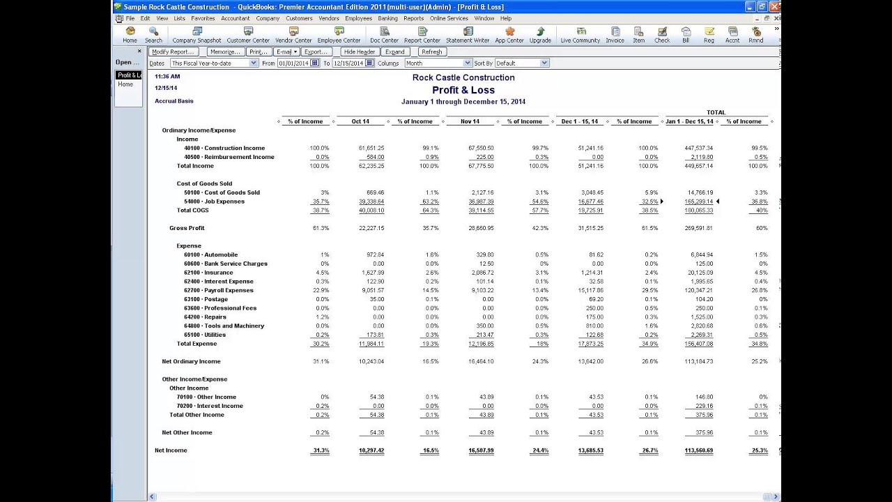 quickbooks tips  reviewing the income statement to