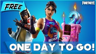 FORTNITE BIRTHDAY REWARDS AND WORLD CUP SKIN * ONE DAY TO GO