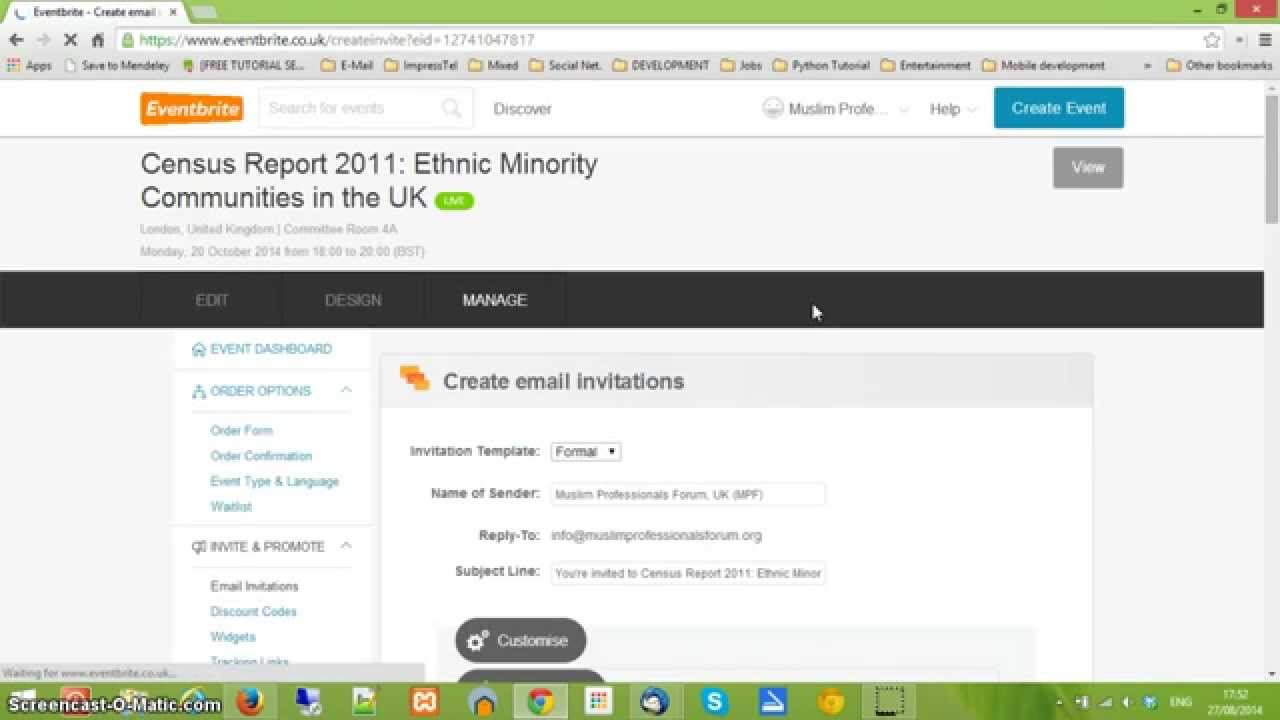 How To Send Email Invitations From Eventbrite   YouTube