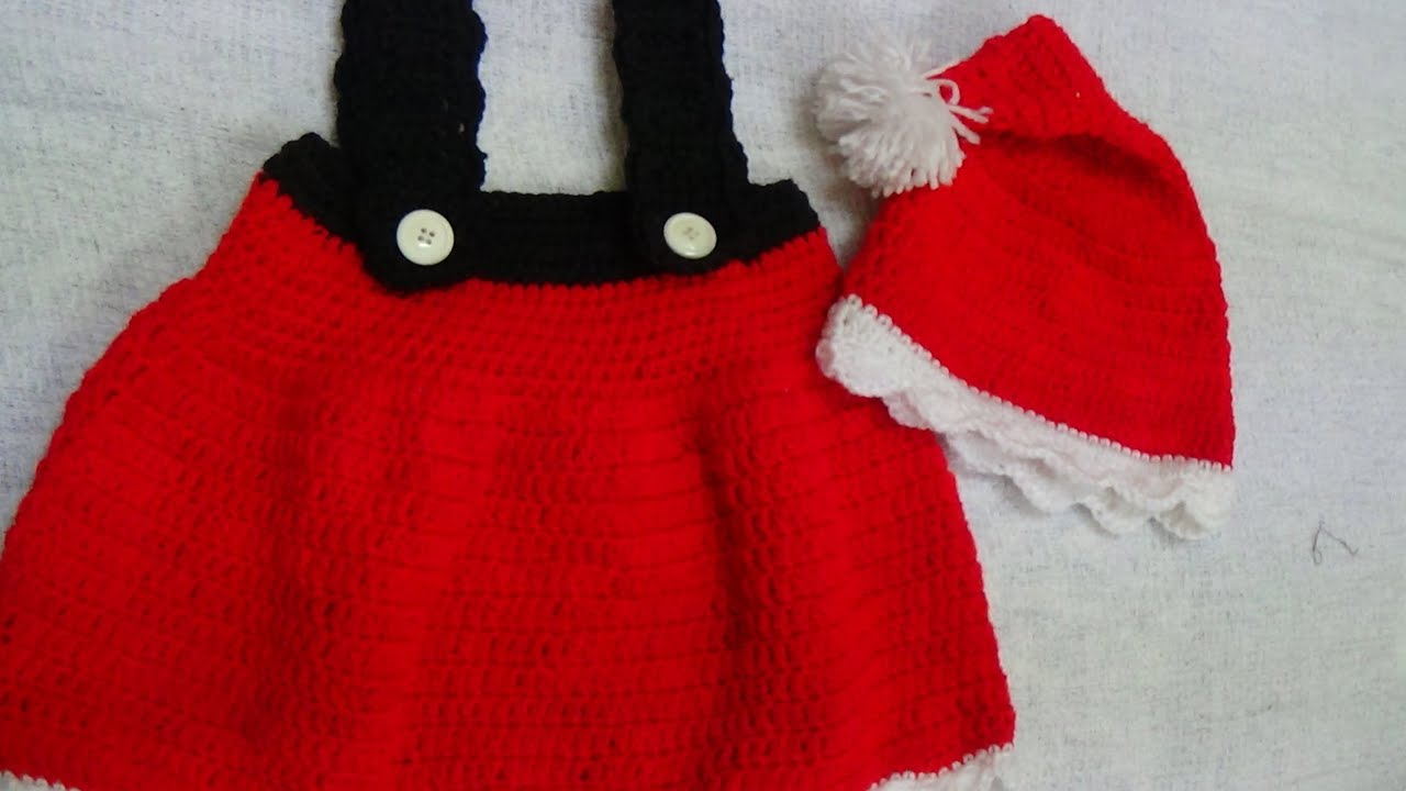 CROCHET SANTA BABY DRESS 1