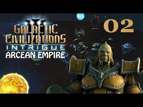 Galactic Civilizations III: Intrigue - Let's Play // Arcean Empire - Episode #2 [Neighbors]