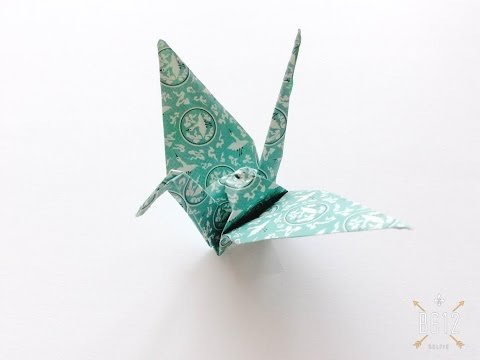 Easy Origami Crane tutorial