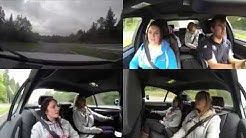 BMW M5 Ring-Taxi Nurburgring Nordschleife with 3 girls 31.08.14